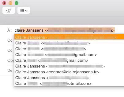 Mail et les adresses intelligentes