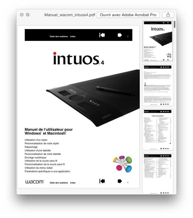 QuickLook et les pdf
