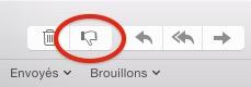 bouton pour rendre un mail indésirable dans Mail