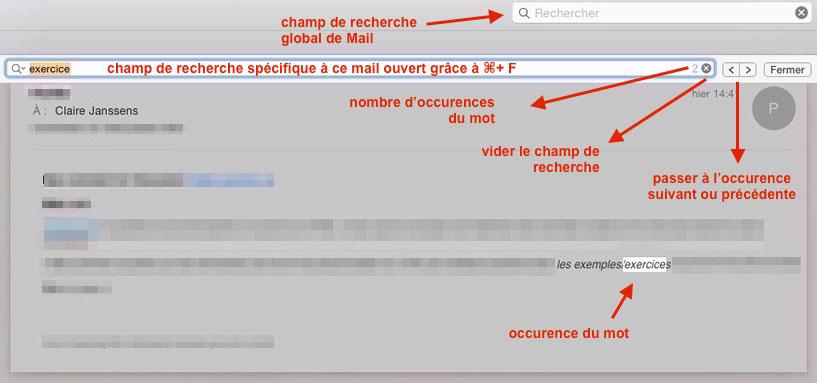 champ de recherche dans Mail